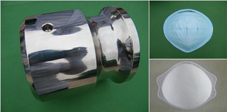 杯型口罩机模具图,熔切成品图